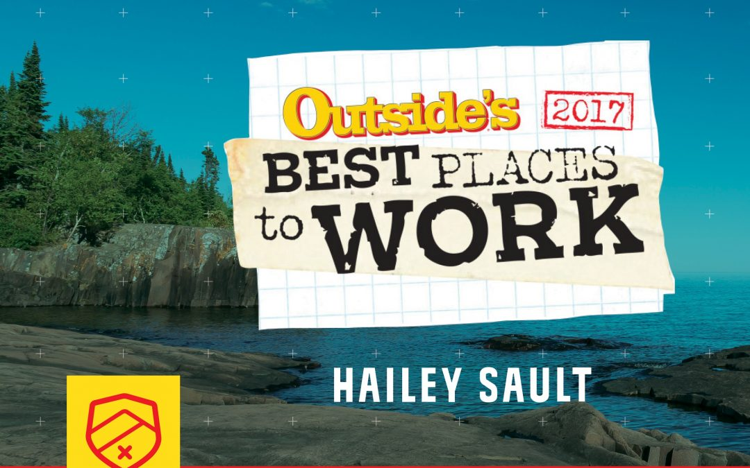 Picture of Lake Superior with Outside Magazines Best Places to Work logo