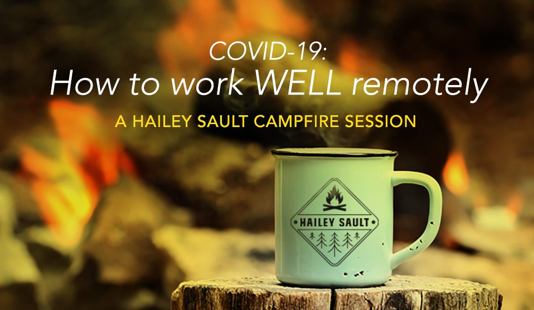 Campfire and mug for work well remotely
