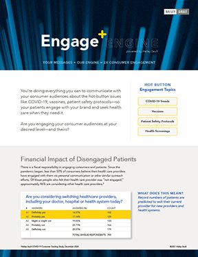 Engage + cover sheet